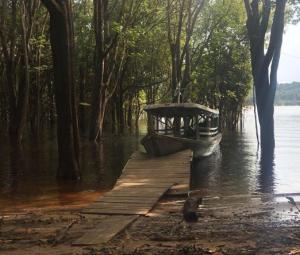 A foto do local em que Aruanas está sendo gravada foi publicada por Leandra Leal em seu perfil no Instagram