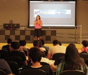Workshop foi realizado no anfiteatro do bloco M do campus Tamandaré
