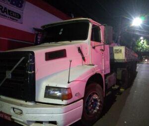 Caminhão roubado durante golpe do falso frete
