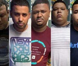 Os cinco milicianos foram presos entre a noite de ontem a madrugada desta quinta