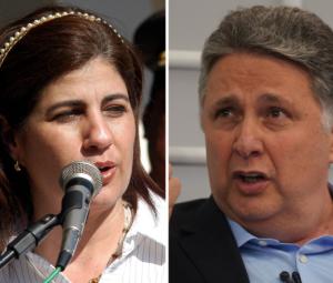 Os ex-governadores do Rio de Janeiro Rosinha Garotinho e Anthony Garotinho