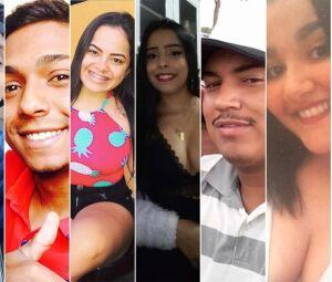 Jefferson, Mateus, Beatriz, Daniela, Maycon, Isadora e Ailton estavam no carro
