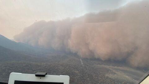 Fim dos tempos: tempestade de areia e cinzas no Pantanal