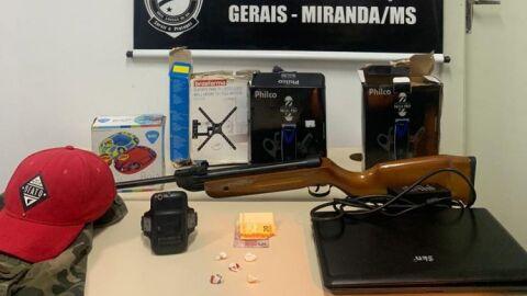 Cinco são presos após furtar loja em Miranda