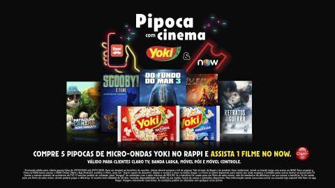 Yoki lança ação inédita para fãs de pipoca e cinema em casa