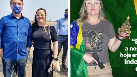 """""""Pistola e Nossa Senhora na mão"""", essa é a campanha de vereadora na Capital"""