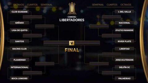 Na competição ainda há seis times brasileiros, são eles, Athletico, Flamengo, Internacional Grêmio, Palmeiras e Santos