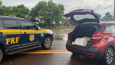 Motorista é preso com 97 kg de maconha na BR-060