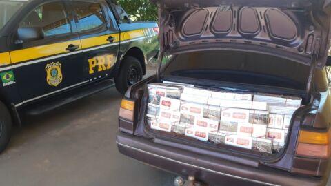 PRF apreende carga de cigarros e celulares em Bataguassu