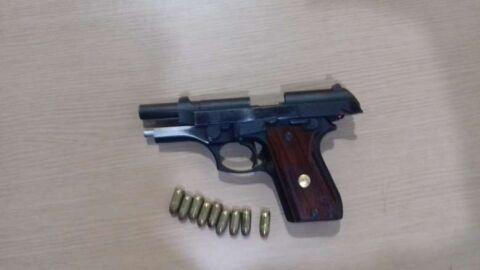 Motorista do Honda Civic é preso armado em Rio Brilhante