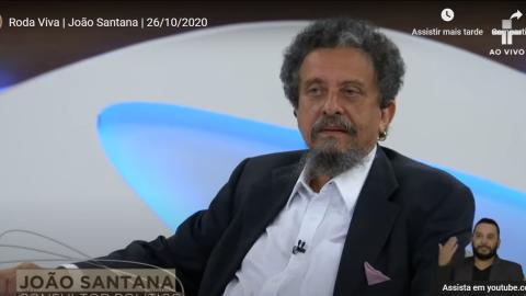 Entrevista no Roda Viva completa com marqueteiro João Santana; veja
