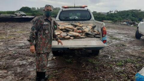 Cinco são presos em flagrante durante pesca ilegal em Corumbá
