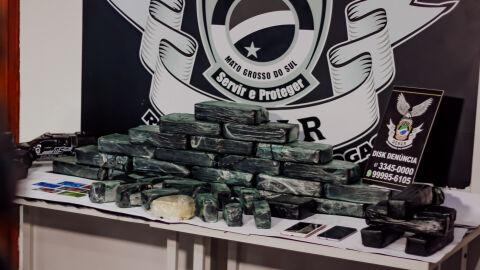 Casal de Ponta Porã, farmacêutica e comerciante são presos traficando cocaína