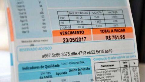 Quase 40% do valor da energia elétrica cobrada em MS é imposto