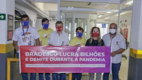 Bradesco pega bilhões de ajuda, mas faz demissão em massa e gera protesto na Capital