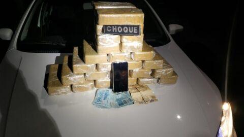 Motorista de aplicativo é preso com cocaína avaliada em R$ 267 mil