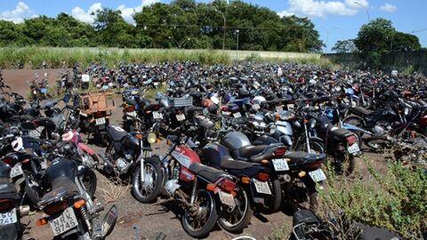 Mais de 400 motocicletas estão disponíveis em leilão de sucata aproveitável