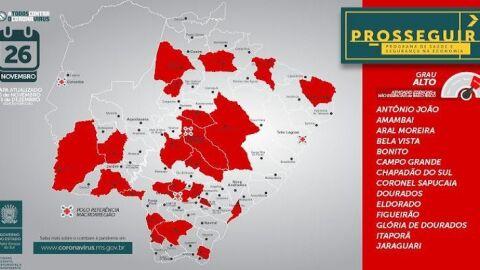 Prosseguir: Governo registra aumento de municípios na faixa vermelha