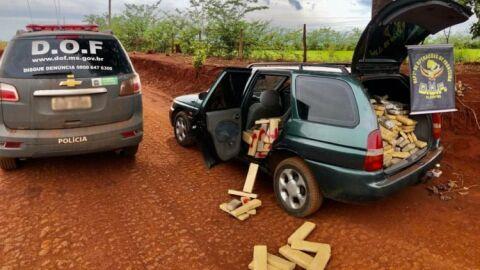 Motorista é preso com 490 quilos de maconha