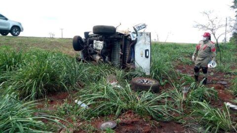 Mulher que viajava com a família, morre após capotar caminhonete na BR-163