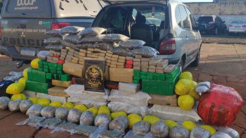 Polícia apreende mais de 600 quilos de droga em veículo