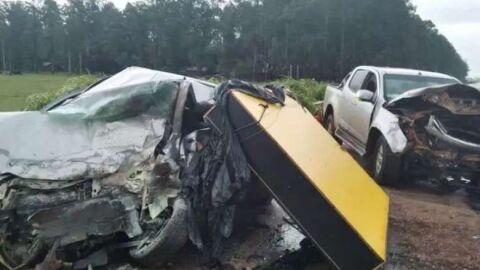 Homem morre e duas pessoas ficam feridas em colisão entre dois veículos