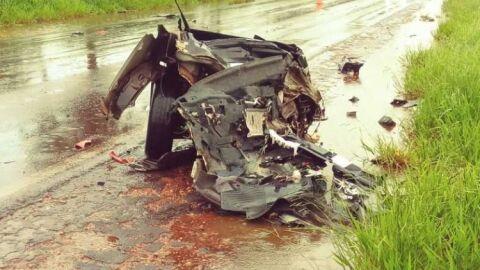 Identificado motorista do Honda Civic que acidentou na BR-267 e teve o corpo mutilado