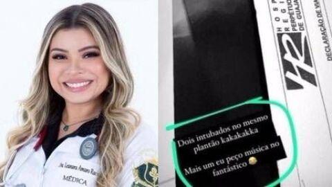 """""""Mais um eu peço música no Fantástico"""", diz médica ao entubar 2 pacientes no mesmo plantão"""