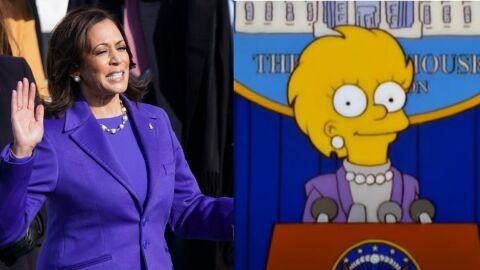 Após nota de R$ 200, 'Simpsons' também previu de traje de Kamala Harris