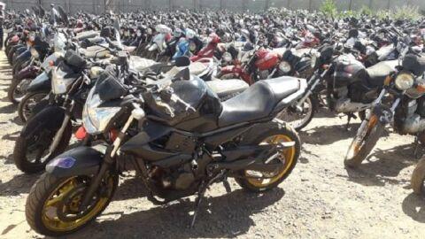 Detran leiloa a preços baixos 168 motocicletas e 49 automóveis