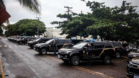 PF recebe 23 novas viaturas na Capital e empossa 29 novos policiais
