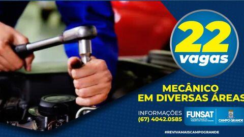 Funsat oferece 602 vagas de emprego; salários de até R$ 2,2 mil para mecânico
