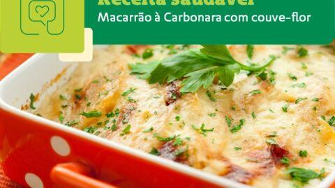Receita Saudável: Macarrão à Carbonara com couve-flor