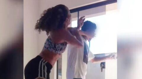 Vídeo: Homem invade casa, tenta agarrar mulher que dançava e leva uma surra