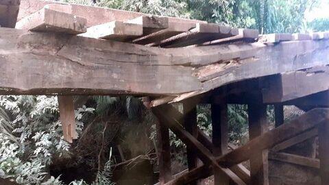 Ponte com 6 vigas quebras na rodovia MS-243 é interditada