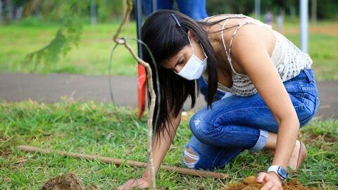 Camila Jara (PT) começa com 10 mudas o plantio de mais de 3.470 árvores