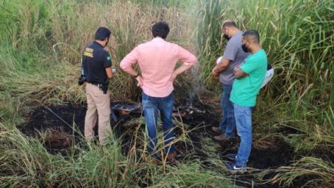Corpo é achado queimando às margens da BR-163 em Nova Alvorada do Sul