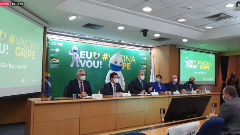 Ao vivo: ministro da Saúde fala sobre campanha nacional de vacinação contra a gripe