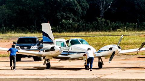 Avião de Fahd segue guardado, por enquanto, após Justiça de MS manter sua prisão