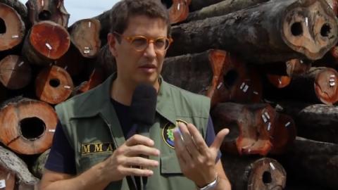 Ministro do Meio Ambiente no Brasil ataca a PF e defende grileiros para liberar madeira ilegal