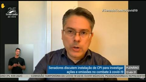 ASSISTA: Senado faz sessão para discutir instalação da CPI da Pandemia