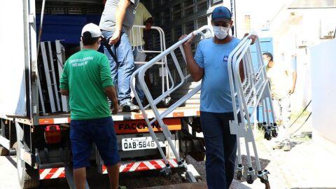 Hospital de Campanha de Três Lagoas recebe 30 camas do Governo estadual