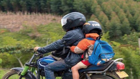 Mudanças no CTB: Nova Lei proíbe o transporte de menores de 10 anos em motocicletas
