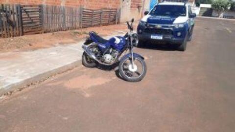 Polícia Militar recupera motocicleta furtada em Costa Rica