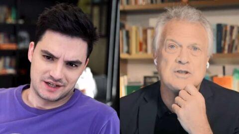 """Felipe Neto detona Bial após fala sobre Lula: """"Devia ter ficado no BBB"""""""