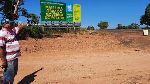 Pavimentação do trecho da Serra do Amasílio está 50% executada