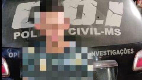 Polícia Civil realiza prisão de suspeito de homicídio, em Campo Grande