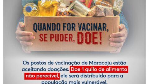 Vai Vacinar? Doe 1 kg de alimento não perecível