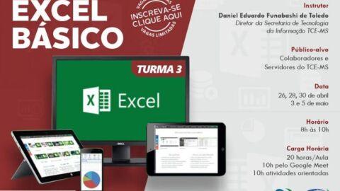 Abertas as inscrições para o curso Excel Básico