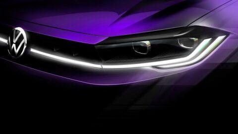 VW revela teaser da frente da versão renovada do Polo